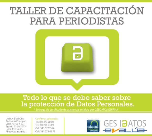 TALLER PERIODISTAS 3 DIA 21 TALLER PARA PERIODISTAS